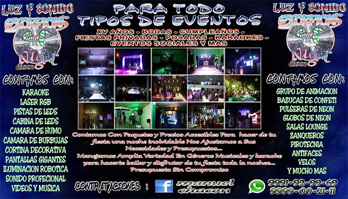 "Luz y Sonido ""Escorpions Night Disco"""